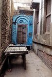 Dead-end Alley Door India stock photo