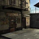 Dead End Alley Scene vector illustration