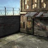 Dead End Alley Scene. 3D Render of an Dead End Alley Scene Stock Image