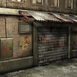 Dead End Alley Scene. 3D Render of an Dead End Alley Scene Royalty Free Stock Photo