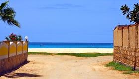 Dead end beach Stock Image