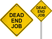 Dead end job road sign Royalty Free Stock Image