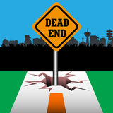 Dead end plate Stock Photo