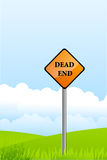 Dead end pole on natural background Royalty Free Stock Photography