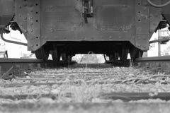 Dead end, Railroad tracks stock photo