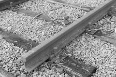 Dead end, Railroad tracks Royalty Free Stock Images