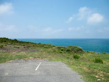 Dead-end Road With Sea View Stock Photo