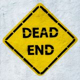 Dead end road sign, grunge style.  Royalty Free Stock Photography