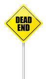Dead end road sign. On white background Royalty Free Stock Photography