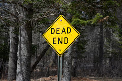 Dead end road sign Stock Image