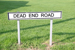 Dead end road street sign Stock Photography