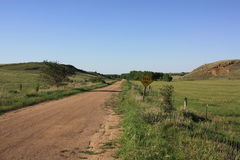 Dead End in Rolling Hills, Kansas Royalty Free Stock Photography