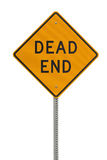 Dead end sign. Dead end traffic sign isolated on white background royalty free stock images