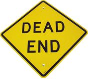 Dead End Sign. Large letters on dead sign on white background royalty free stock photos