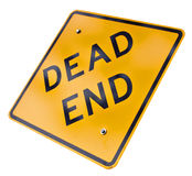 Dead end sign. Isolated on a white royalty free stock photo