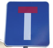 Dead end sign. A close-up of a dead end road sign Stock Photography