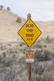 Dead end sign. In Oregon's high desert Royalty Free Stock Photography