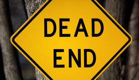 Dead End Sign. Up close Royalty Free Stock Photos