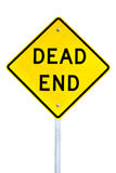 Dead End sign. Dead end street sign isolated on white background Royalty Free Stock Image