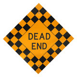 Dead End Sign. A dead end sign isolated with a white background Royalty Free Stock Photography
