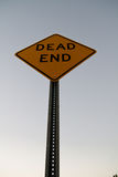 Dead End Sign. From beneath, with peeling E Royalty Free Stock Photo