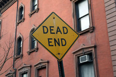 Dead end sign. In front of building royalty free stock photos