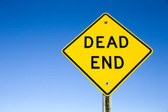 Dead End Sign Against Blue Sky Royalty Free Stock Photography