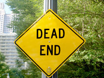 Dead end sign in Atlanta Royalty Free Stock Images