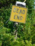 Dead End Sign with Bullet Holes Stock Images