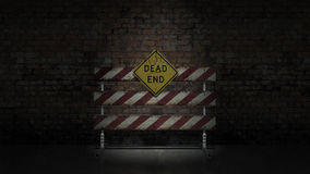 Dead end sign could represent various jobs or relationships Stock Image