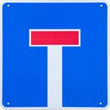 Dead End. Sign in Germany Stock Photo