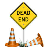Dead end sign and grass Royalty Free Stock Photos