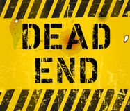 Dead end sign. Grungy,industrial style Stock Image