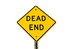 Dead End Sign Isolated on White Royalty Free Stock Photo