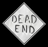 Dead End sign made of salt Royalty Free Stock Photography