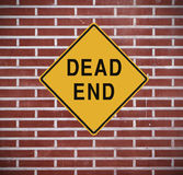 Dead End. Sign mounted on a wall Stock Photography
