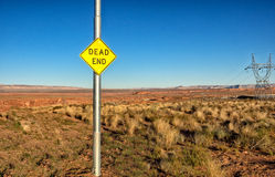 Dead end sign in a rural countryside Stock Photos