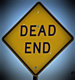 Dead End Sign. With a vignette effect The picture would be good for web, blog usage or print publication Stock Photo