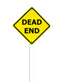 Dead End sign on a white Royalty Free Stock Photography