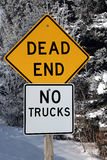 Dead end sign in winter Stock Images