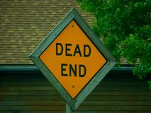 Dead End Signage. With a frame around it. Unusual signage for a dead end sign royalty free stock photo