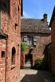 A dead-end with stone houses in Collonges-la-Rouge, France Stock Images