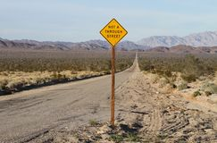 USA, California: Long Road in the Mojave Desert Stock Images