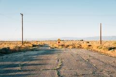 Dead end street in Salton City, California.  royalty free stock photo