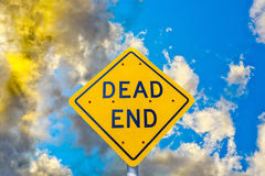 Dead end street sign in sunset Stock Images