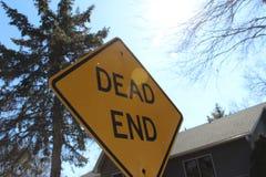 Dead end in sun. Sign, sunlight stock photos