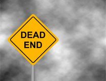 Dead End Traffic bord isolated in sky background. Wrong way road sign prohibition. Dead End Traffic bord isolated in sky background. Wrong way road sign Royalty Free Stock Photography