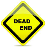 Dead end traffic sign Stock Photo