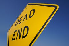Dead End Traffic Sign royalty free stock photography