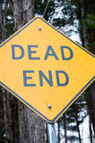 Dead End in the woods Royalty Free Stock Images